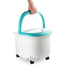 Foot Spa Bain De Massage Et De Chaleur, Pied Tremper Caractéristiques Baignoire, Écran LCD Bulles & (wqmp)