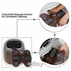 Foot Spa Bain De Massage Tem / Temps De Chauffage Commande Motorisée Rouleau D'affichage Led Douche
