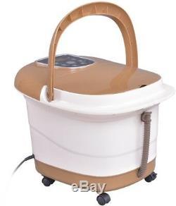 Foot Spa Bath Massager Machine De Chauffage 6 Rouleaux Numériques Avec Blanc Kaki À Distance