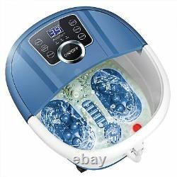 Foot Spa Bath Massager W Heat Bubbles Vibration Massage Rollers Temp Timer 500w
