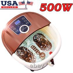 Foot Spa Bath+heat&massage&bubbles Foot Bath Massager+16motorized Shiatsu Roller