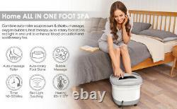 Foot Spa + Chaleur Et Massage Bulles Bain De Pieds Masseur + Motorisé Massage Shiatsu Balle
