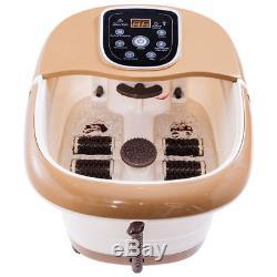 Foot Spa Hot Bath Bath Massager Temp Réglable Réglable Vibration De Chaleur 6 Rouleaux