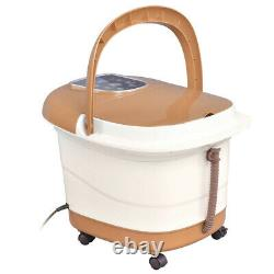 Foot Spa Hot Water Bath Massager Réglable Temp Timer Heat Vibration 6 Rouleaux