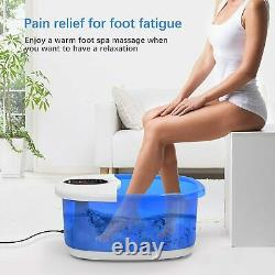 Foot Spa Massager Arealer Bain De Pieds Avec Bulles Vibration Thermique Et Auto Nouveau