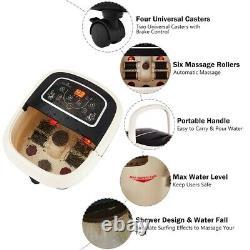Foot Spa Massager Heating Machine 4 Rouleaux Affichage Numérique Avec Télécommande Nouvelle