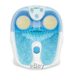Foot Spa Pédicure Bain D'eau Chaude Bain De Massage Tremper Pieds Relaxer La Chaleur Chaleur Led Cascade