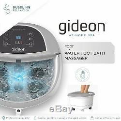 Gideon Luxe Thérapeutique Chauffée Foot Spa Bain De Massage Avec Des Lumières Et Des Bulles