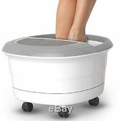 Gideon Luxury Spa Foot Bain De Massage Avec La Chaleur 4 Bubbling Jets D'eau 6 __gvirt_np_nn_nnps<__ Roulants