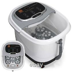 Heated Foot Bath Portable Spa W Massage Rollers Red Light Therapy Relaxation