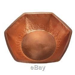 Hexagonal Cuivre Nu Bain De Pieds Massage Spa Salon De Beauté Thérapie Pédicure Bowl