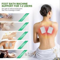 Home Ionic Detox Foot Basin Spa Cleansers Machine Relax Body 10 Liners Kit