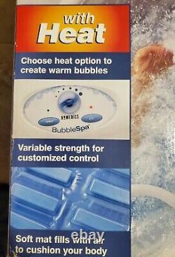 Homedics Bubble Spa Massant Air Rempli Bubble Bath Mat Brand New