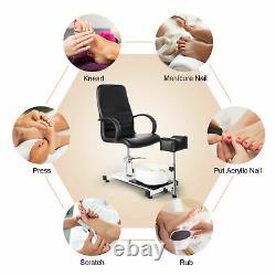 Hydraulique Pedicure Station Chaise Bain De Pied Massage Beauté Nail Salon Spa Avec Tabouret