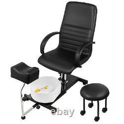Hydraulique Spa Pedicure Unit Chaise Avec Bain De Pied Pvc Easy-clean Lift Réglable