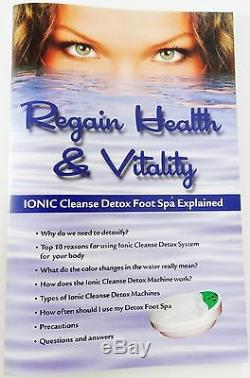 Ion Detox Spa Ionique Pour Le Bain De Pieds Chi Cleanse, Bonus Gratuits. 1 An De Garantie