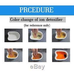 Ion Double Cellule De Désintoxication Ionique Spa Bain De Pieds Nettoyer La Machine Avec Écran LCD &
