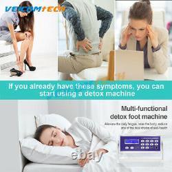 Ionic Detox Foot Bath Detox Spa Machine, Nettoyer Les Soins De Santé Faless Kit +5 Arrays