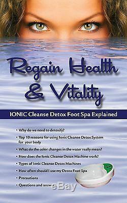 Ionic Detox Ionic Foot Bath Unité De Nettoyage Chi. Detox Foot Spa Garantie De 1 An