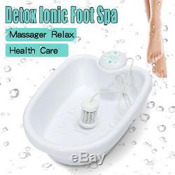 Ionique Ion Detox Bain De Pieds Santé Cellulaire Machine Cleanse Spa Set Avec Baignoire 1