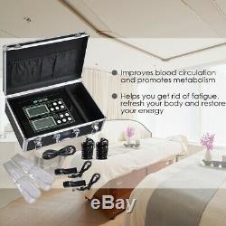 LCD Double Utilisateur Ionique Detox Spa Bain De La Machine De Stockage De Cas Cleanse Soins De Santé