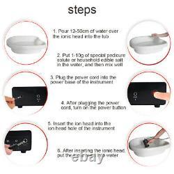 LCD Dual Foot Detox Machine Ionique Baignoire De Bain Spa Cell Nettoyer Les Ceintures Lointaines