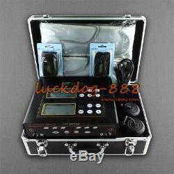 LCD Ionique Cleanse Pro Double Unité De Désintoxication Aqua Spa Bain De Pieds Set 5 Modes 2 Ceintures Sapin