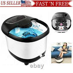 Massage Acevivi Foot Spa Bath Avec Massage Rollers Heat And Bubbles Temp Timer A+