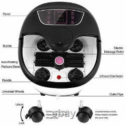 Massage Acevivi Foot Spa Bath Avec Rollers Heat Bubbles Digital Temp Timer 2021