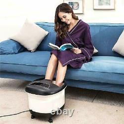 Massage Acevivi Foot Spa Bath Avec Rouleaux De Massage Chaleur Et Bulles Temp Timer