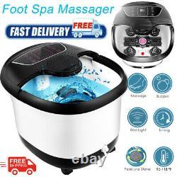 Massage Automatique De Massage De Bain De Spa De Pied Avec Le Soulagement Chauffé De Stress De Seau De Rouleau Des Etats-unis