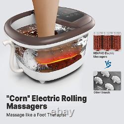 Massage De Bain De Spa De Pied Massage Motorisé Chauffage Rapide Et Jets Puissants De Bulle