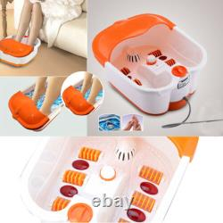 Massage Foot Bath Therapy Spa Roller Bubble Vibration Feet Relax Multifonction