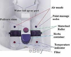 Massage Profond De Pied De Roulement Motorisé Par Masseur De Bath De Station Thermale De Bain De Jambe Led De La Chaleur W De Bulle