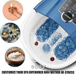 Massager Blue Foot Spa Bain Avec Massage Rouleaux Chaleur Et Bulles Temp Timer Nouveau