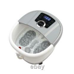 Massager De Bain De Bain De Spa De Pied Chauffer Massage Bubble Roller Deep Soak Heat Timer