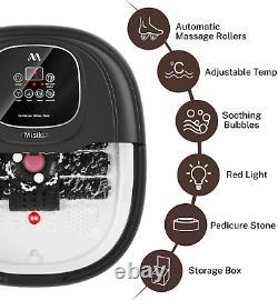 Massager De Bain De Pied Misiki Avec Chauffage Et 3 Modes Automatiques Et 6 Motorisés