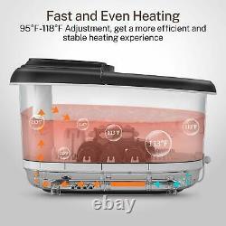 Massager De Bain De Pied Spa Avec Chauffage 3 Modes Automatiques Et 4 Motorisés