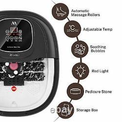 Massager De Bain De Pied Spa Avec Chauffage Et 3 Modes Automatiques Et 6 Motorisés