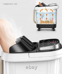 Massager De Bain De Spa De Pied Avec La Vibration De Roulement De Bulles D'oxygène De Chaleur