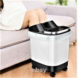 Massager De Bain De Spa De Pied Portable De Chauffage Automatique Vibration Bateau De Pied Barrel