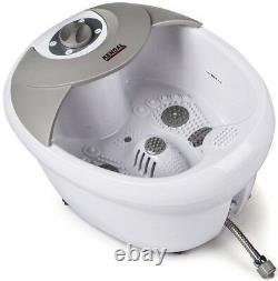Massager De Bain De Spa Tout-en-1 Pied Hf Vibration O2 Bubbles Thérapie Des Pieds Chauffés Nouveau