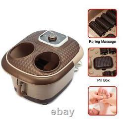 Massager De Bain Électrique De Spa De Pied 220v Avec Des Bulles D'oxygène De Chaleur De Vibration De Roulement
