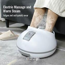 Massager De Bain Spa À Pieds Vapeur Avec Pierres De Massage Électriques, 3 Niveaux De Chauffage, 4