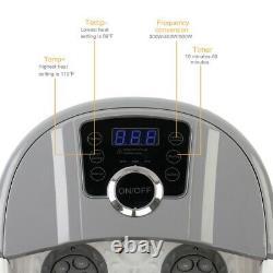 Massager De Bain Spa Pied Avec Bubbles De Chaleur Automatique Roller Anti-stress Pied Tub