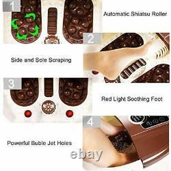 Massager De Bain Spa Pied Avec Jets De Bulles De Chaleur, Rouleaux De Massage Motorisés, Pied Ba
