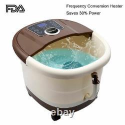 Massager Ellectric Foot Spa Bain Avec Rouleaux De Massage Bulles De Chaleur Temp Timer Us