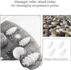 Massager Foot Spa/bain Avec Bulles Thermiques Vibration 3 En 1 Fonction, 4 Massages
