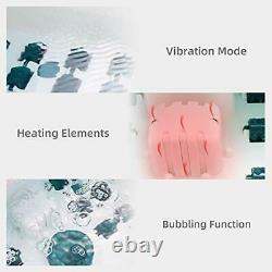 Massager Foot Spa/bain Avec Chaleur, Bulbbles Et Vibrations, Température Numérique