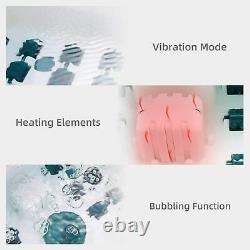 Massager Foot Spa/bain Avec Chaleur, Bulles Et Vibrations, Nouvelle Température Numérique